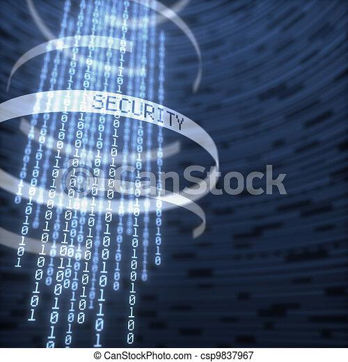 bezpečí, data, digitální - csp9837967