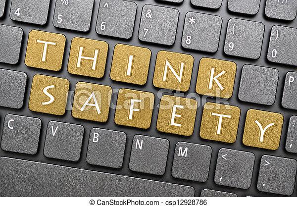 bezpieczeństwo, myśleć, klawiatura - csp12928786