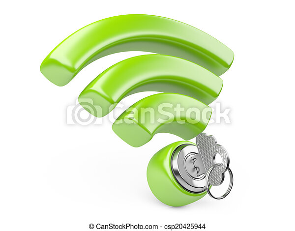 bezpieczeństwo, pojęcie, wifi - csp20425944