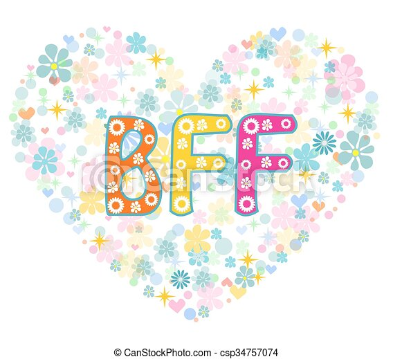 bff best friends forever greeting card bff best friends forever rh canstockphoto com bff birthday clipart bff clip art free