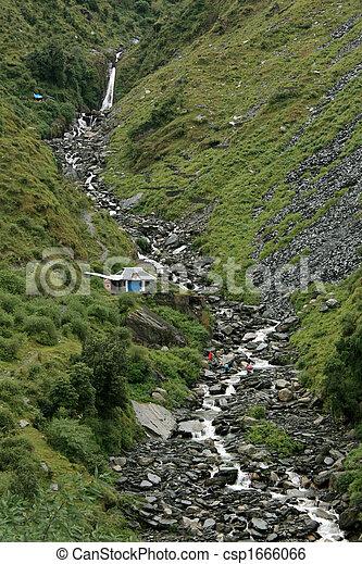 Bhagsu Waterfall, India - csp1666066