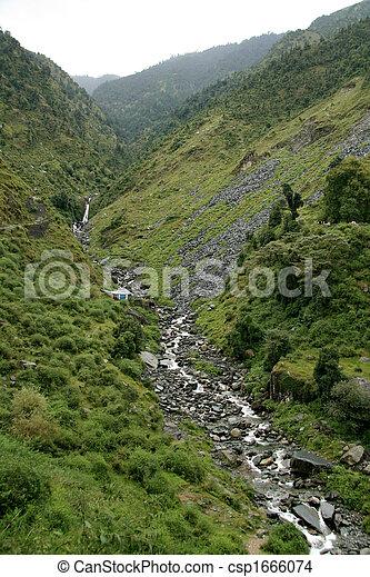 Bhagsu Waterfall, India - csp1666074