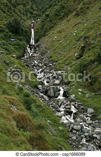 Bhagsu Waterfall, India - csp1666089