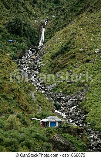 Bhagsu Waterfall, India - csp1666073