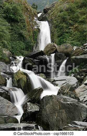 Bhagsu Waterfall, India - csp1666103