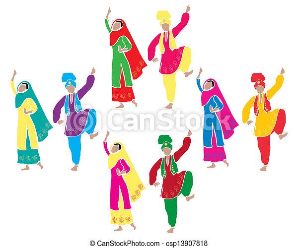 bhangra entertainment - csp13907818