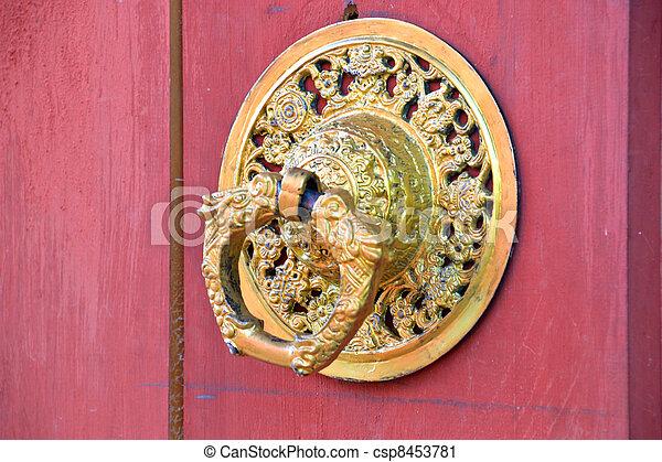 Bhutan door handle - csp8453781