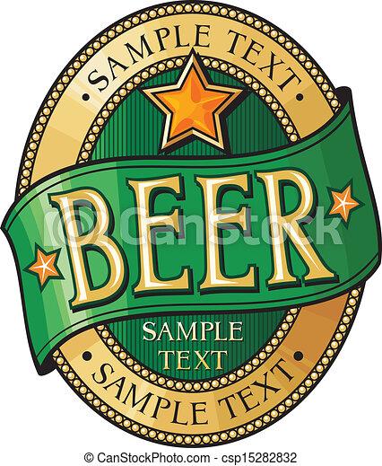 bière, conception, étiquette - csp15282832