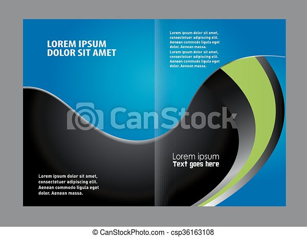 bi fold brochure template design csp36163108