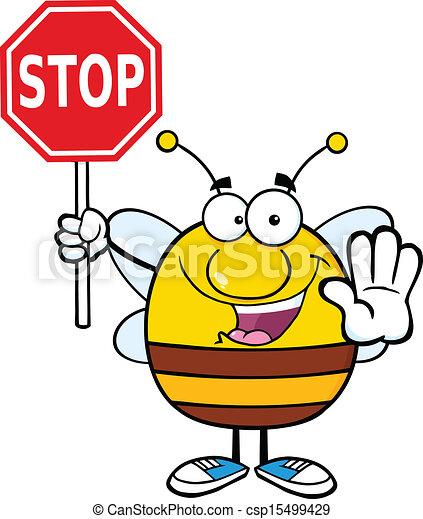 bi, holde inde, holde, pudgy, tegn - csp15499429