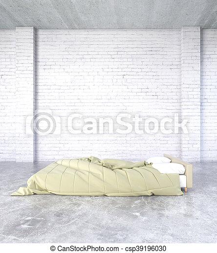 Biała Cegła Sypialnia