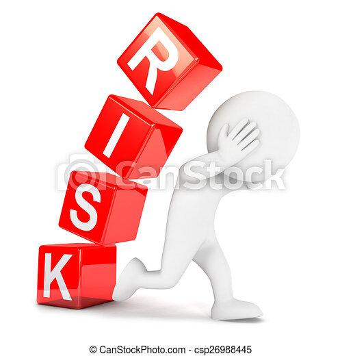 biały, 3d, ryzyko, ludzie - csp26988445