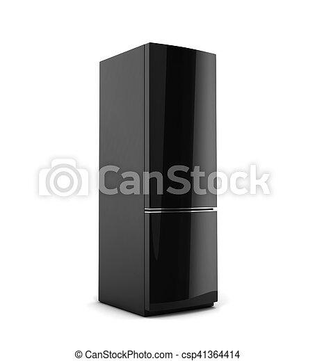 biały, czarnoskóry, odizolowany, chłodnia - csp41364414