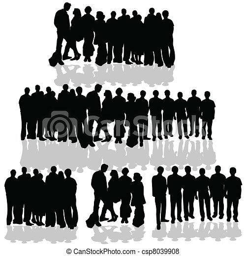 biały, grupa, ludzie - csp8039908