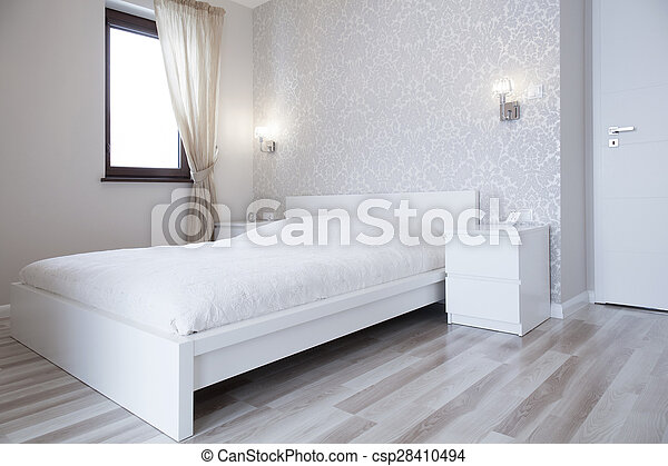 Biały Jasny łóżko Sypialnia