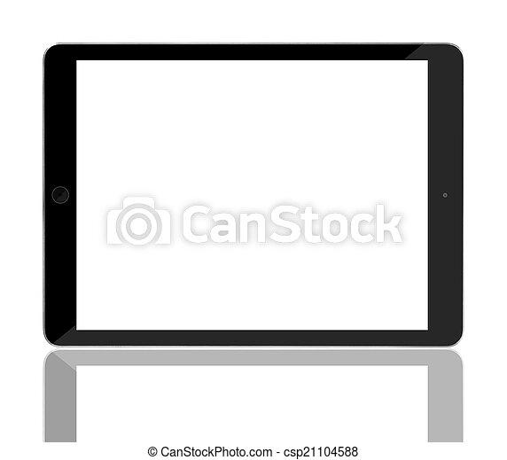 biały, komputer, screen., tabliczka, czysty - csp21104588