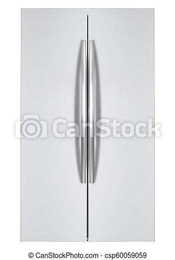 biały, nowoczesny, odizolowany, chłodnia - csp60059059