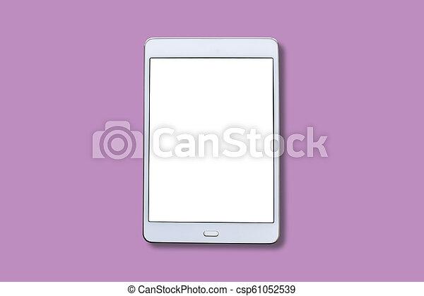 biały, screen., tabliczka, czysty - csp61052539