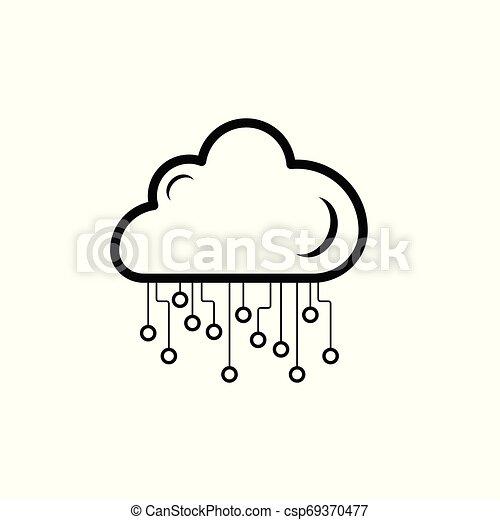 biały, technologia, chmura, tło, ikona - csp69370477