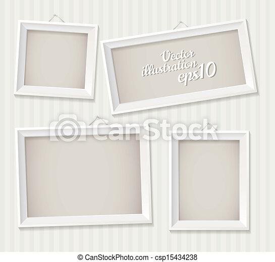 biały, ułożyć, opróżniać, wisząc - csp15434238