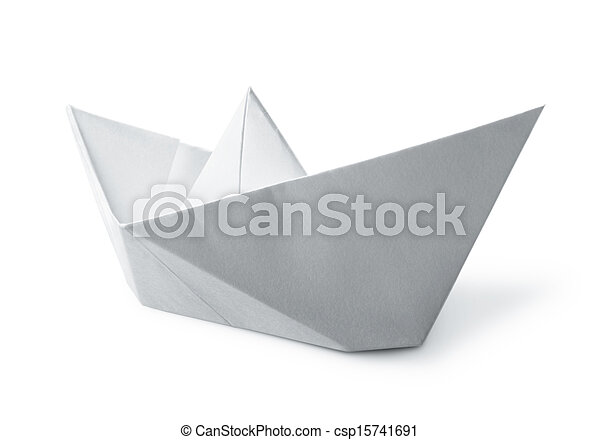 bianco, barca carta - csp15741691