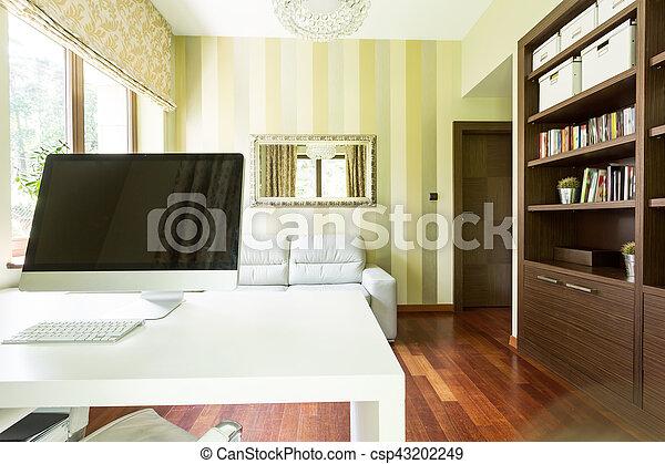 Ufficio Legno Bianco : Bianco computer scrivania ufficio. computer ufficio legno