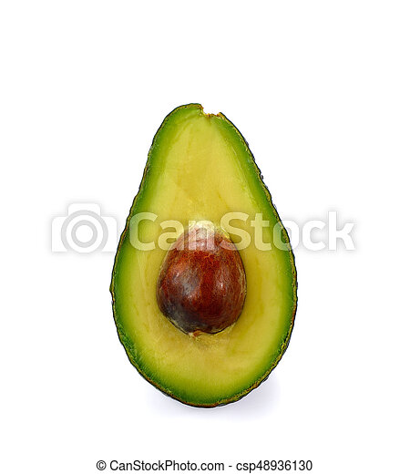bianco, frutta, avocado, isolato, mezzo - csp48936130