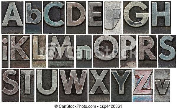 bianco, lettere, isolato, blocco - csp4428361