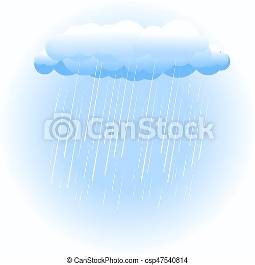 bianco, nube pioggia - csp47540814