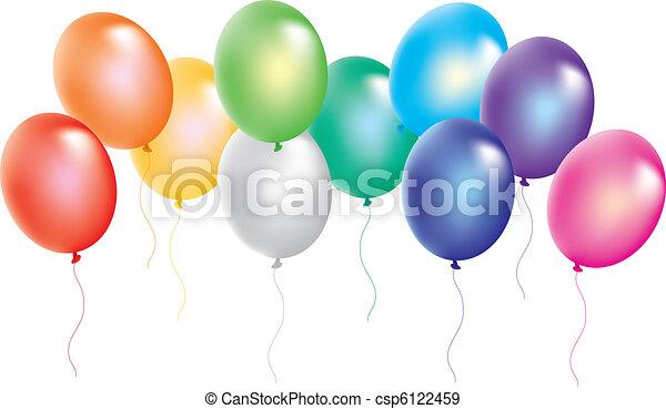 bianco, palloni, colorito, fondo - csp6122459