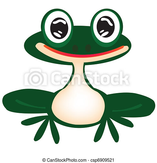 bianco, rana verde - csp6909521