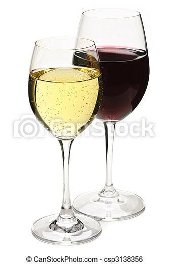 bianco rosso, vino - csp3138356
