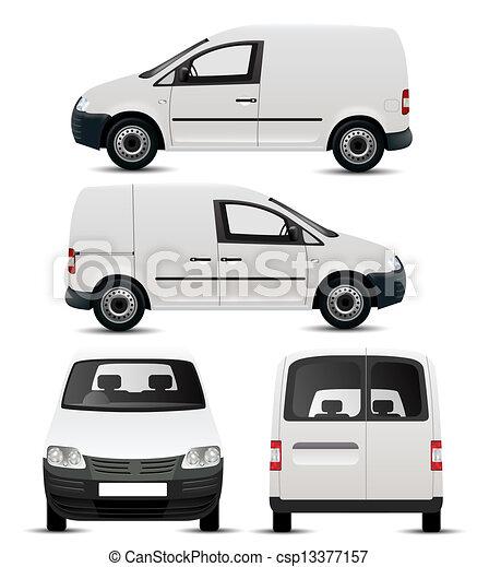bianco, veicolo, commerciale, mockup - csp13377157