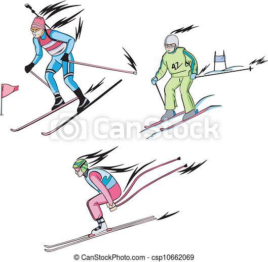 Biathlon and Alpine skiing - csp10662069