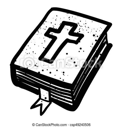 Bibbia immagine cartone animato religione icon simbolo
