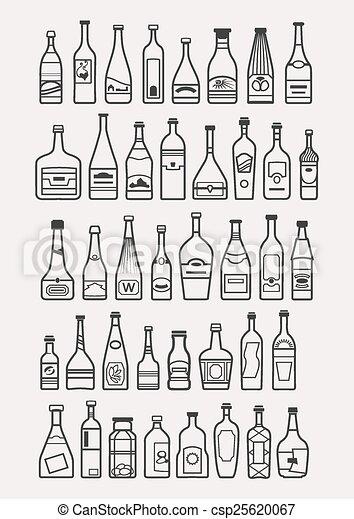 bibite, alcool, bevanda, icone - csp25620067