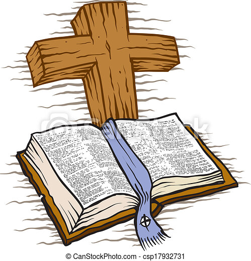 Bible and cross - csp17932731