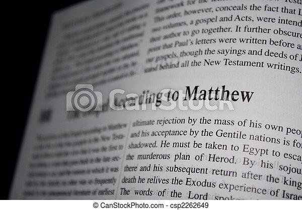 Bible Gospel Matthew - csp2262649