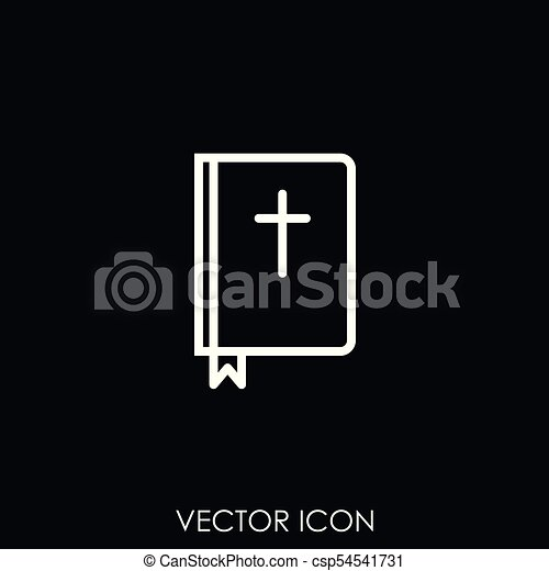 Bible holy book with cross icon - csp54541731