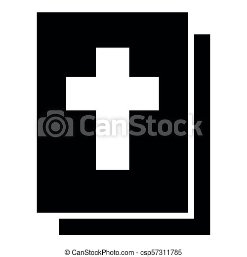 Bible icon black color illustration flat style simple image - csp57311785