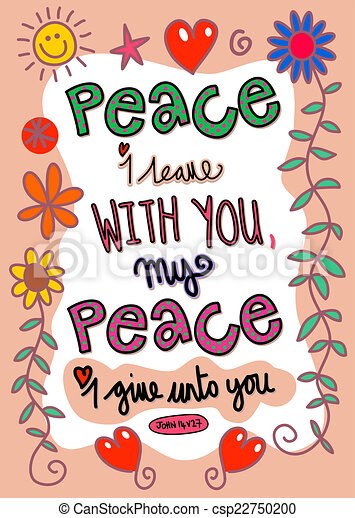bible verse art hand drawn doodle scripture text which says peace rh canstockphoto com bible verse clipart bible verses clip art for kids