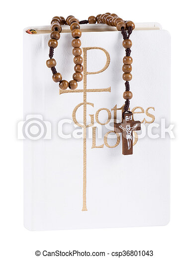 Bible with rosary - csp36801043