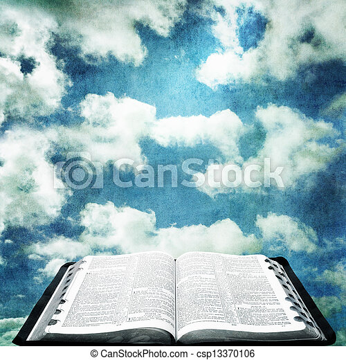 Biblia Abierta Grunge Cielo Biblia Grunge Encima Cielo