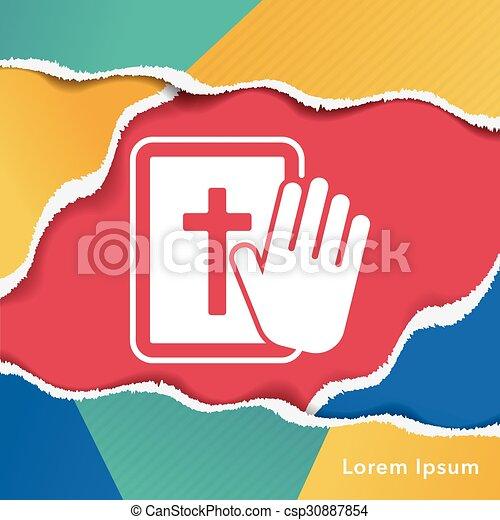 biblia, ikona - csp30887854