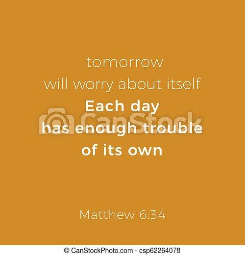 Biblical phrase from matthew gospel 6 - csp62264078