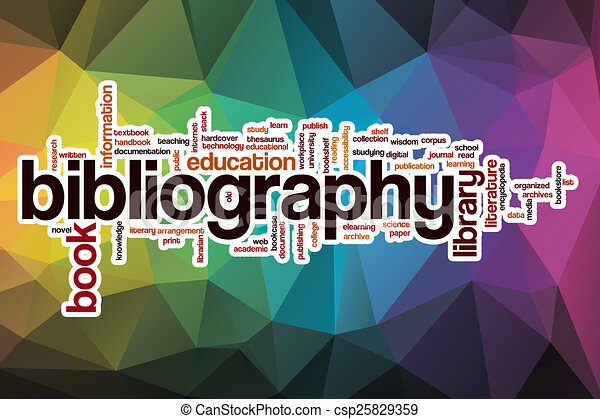 Bibliography Word Cloud With Abstract Background
