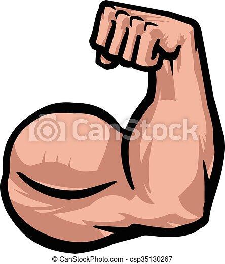Biceps Flex Arm Vector Icon - csp35130267