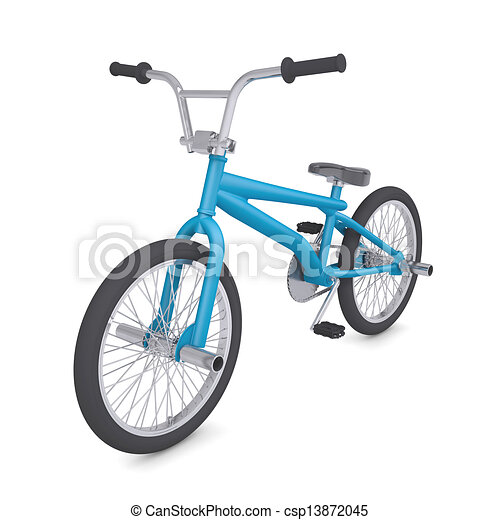 Dibujo de bici del bmx  BMX bike Isolated render en un