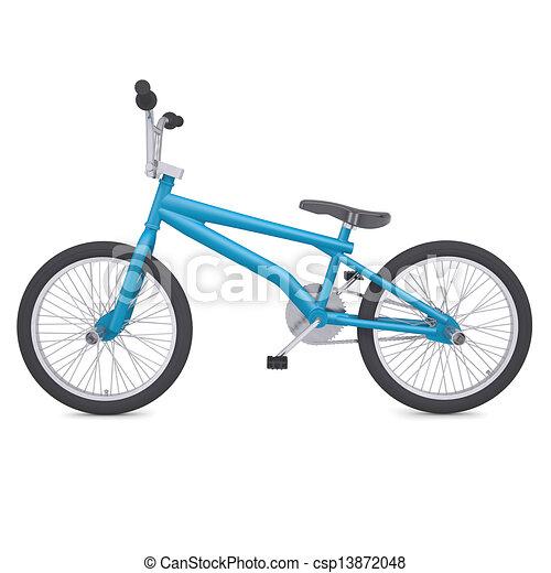 Bici del bmx. Render, aislado, bike., plano de fondo, bmx, blanco.