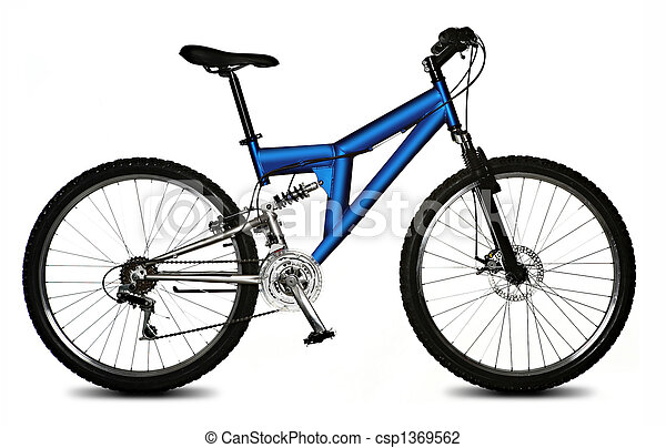 bicicleta, aislado - csp1369562